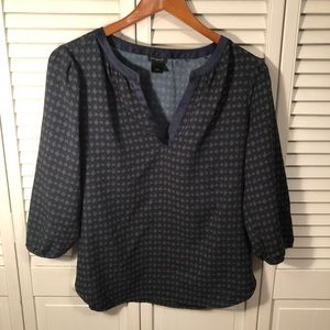 Ann Taylor Factory 3/4 length sleeve blouse